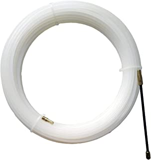 Lesai Guia pasacables,Ø 4 mm x 25 m Guia Cables,Con Muelle de Guía, Ideal Para la Colocación de Cables