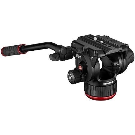 Manfrotto 504X フルードビデオ雲台 スライディングクイックリリースプレート 水準器 ブレーキシステム 4段階カウンターバランス 耐荷重12㎏ MVH504XAH