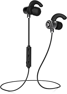 HTC Desire 820 dual sim Bluetooth Headset In-Ear Running Earbuds IPX4 Waterproof with Mic Stereo Earphones, CVC 6.0 Noise Cancellation, works with, Apple, Samsung,Google Pixel,LG