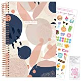 """bloom daily planners 2021-2022 Academic Year Day Planner & Calendar (July 2021 - July 2022) - 6"""" x 8.25"""" - Weekly/Monthly Agenda Organizer with Stickers and Bookmark - Navy Modern Abstract"""
