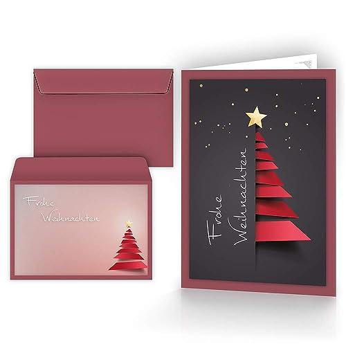 Eigene Weihnachtskarten Drucken.Weihnachtskarten Klappkarten Amazon De