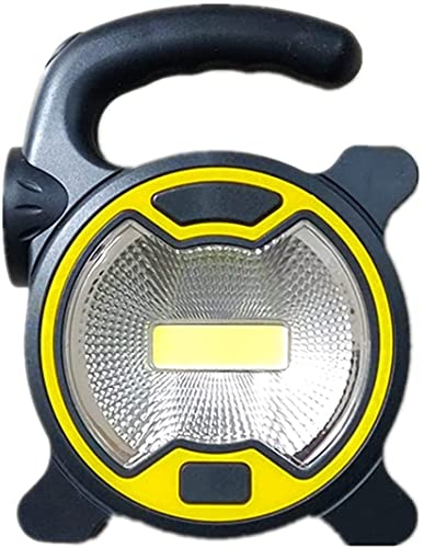 WXFCAS DIRIGIÓ Foco de Emergencia de la Linterna Foco Recargable para el Trabajo de Camping al Aire Libre Luz de luz Mini Linterna (Color: Amarillo) (Color : Yellow)