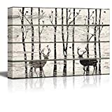 SIGNWIN - Canvas Wall Art - Deer in Forest Abstract Art- Poster Giclee Wall Decorations for Living Room High Definition Printed - 24x36 inches