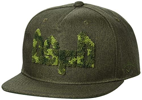 [キャロウェイ] [メンズ] フラット キャップ (迷彩サガラ刺繍・サイズ調整可) / 帽子 ゴルフ / C21291103 1180_カーキ FR