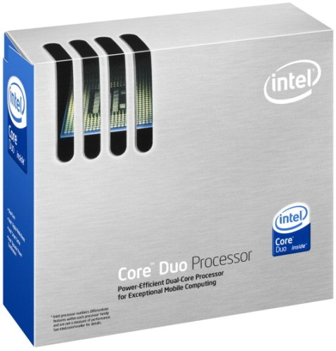 Intel Core ® ™ Duo Processor T2400 (2M Cache, 1.83 GHz, 667 MHz FSB) 2MB L2 Box Prozessor - Prozessoren (1.83 GHz, 667 MHz FSB), Core™ Duo, 1,83 GHz, Buchse 478, PC, 65 nm, T2400