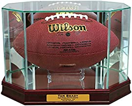 Perfect Cases Octagon Football Display Case (Cherry with Engraving)