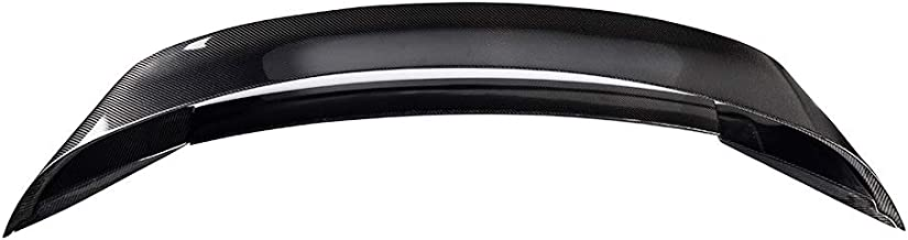 Trunk Spoiler Compatible With 2015-2018 Ford Mustang | GT350R Style Carbon Fiber CF Rear Spoiler Wing Tail Lid Finnisher Deck Lip by IKON MOTORSPORTS | 2016 2017