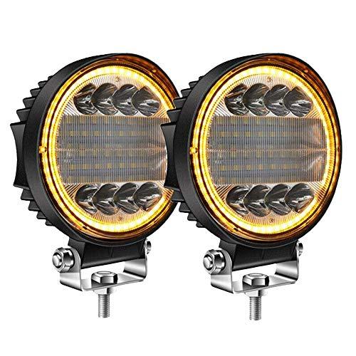 DIDILI 2X 5 Pulgadas 200W Luz de Trabajo LED InundacióN Puntual Combinada LáMpara de Niebla de áMbar de ConduccióN de Todoterreno