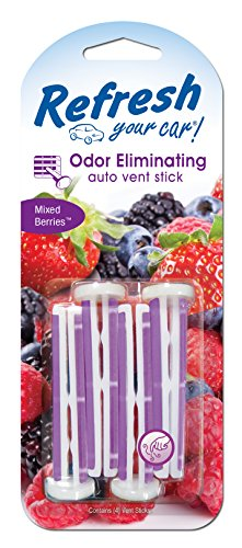 Refresh Your Car! Air Freshener, Mixed Berries, 4 Pack