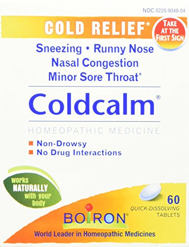 Boiron Homeopathic Medicine Coldcalm Tablets for Colds, 60 Count