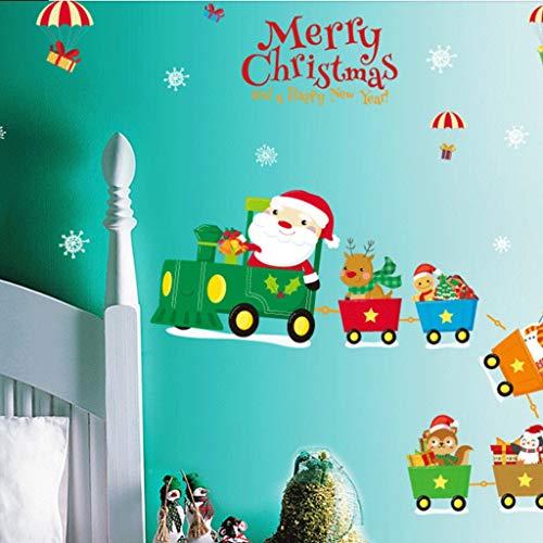 XYZMDJ Pegatinas de pared para ventana de Navidad, muñeco de nieve, copo de nieve, pegatinas de pared Feliz Navidad Decoración para el hogar
