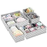 mDesign boîte de rangement tissu (lot de 5) pour chambre d'enfant – panier de...