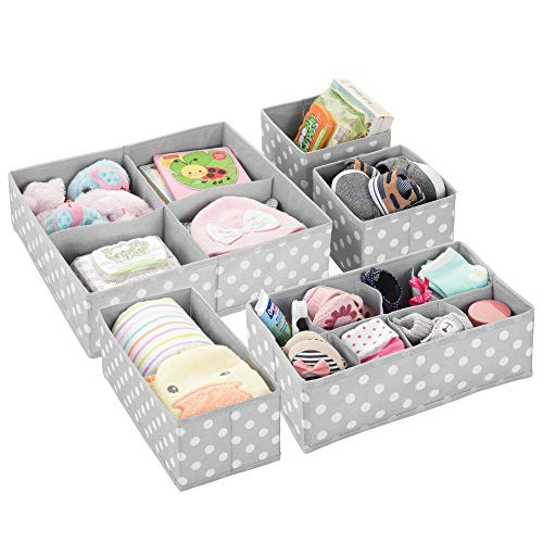mDesign Storage Boxes - Set of 5 - Kids Storage Ideal for Baby Clothes and...