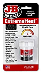 JB WELD EXTREME HEAT: Is formulated for repairs to iron, steel and metal in high temperature environments-2400°F / 1300°C. Non-flammable, it contains no solvents or Volatile Organic Compounds (VOCs). THE ORIGINAL COLD WELD: JB Weld was developed as a...