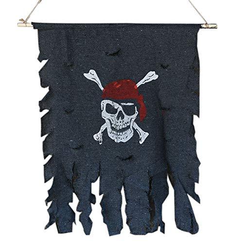 Casecover Cloth Schädel-Knochen-Piraten-Flagge Piraten-Flagge Hanging Verzierung Piraten-Thema-Party Supplies Bar Halloween Zubehör