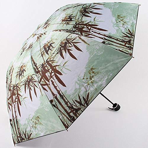 Paraplu Vouwparaplu's Bamboe Schilderij Paraplu's Niet-Automatische Regenbestendige Waterdichte Zonnescherm Parasol Parasol Parasol Vrouw & Man Klassieke Dans Gift-as_Picture