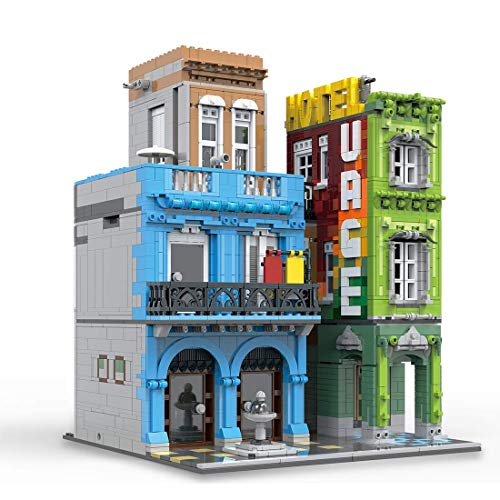 CYGG Modelo de Arquitectura Bloques de construcción, Conjunto de Edificios de hoteles modulares Conjunto de construcción Compatible con Lego - 4104 Piezas