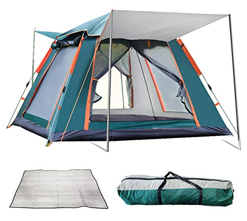 REAVEE Instant Pop Up Family Camping Tent for 4...