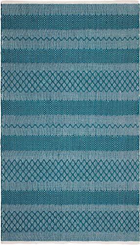 FAB HAB Mir - Tapis Sarcelle (Bleu-Vert) en Polyéthylène recyclé (Fibres Polyester) pour intérieur/extérieur (120 cm x 180 cm)