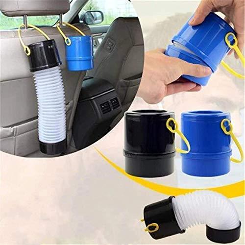 Zhengbenchang Car Foldable Storage Bucket, Cubo de Paraguas retráctil para Coche de 2 Piezas, Cubo de Basura portátil para Coche, Cubo de Almacenamiento Multifuncional para teléfonos móviles, Llaves