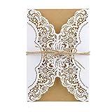 Monland 50 StüCke Hochzeits Einladungs Karten Kits mit Umschl?Gen Geburtstags Gru? Karte Danke Karte Hochzeits Dekoration Party Zubeh?R