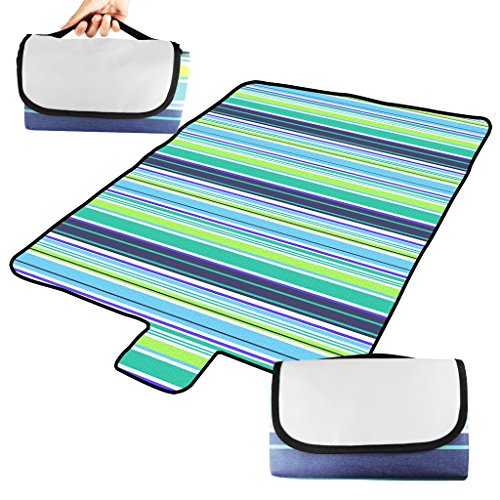 BIAL Picnic Blanket 79 by 60 Inch Oversized Waterproof Extra Large Beach Blanket Portable Lightweight Lawn Blanket Compact Handy Tote Great Picnic Mat for Travel CampingOutdoor Music Festivals