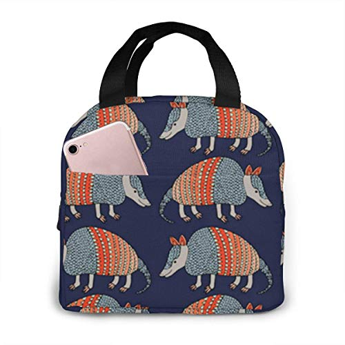 shenguang Armadillo Pattern Lunch Bag, Insulated Lunch Box, Large Cooler Tote Bags, Meal Prep Lunch Containers (Size: 8.5' x 8.0' x 5.0')