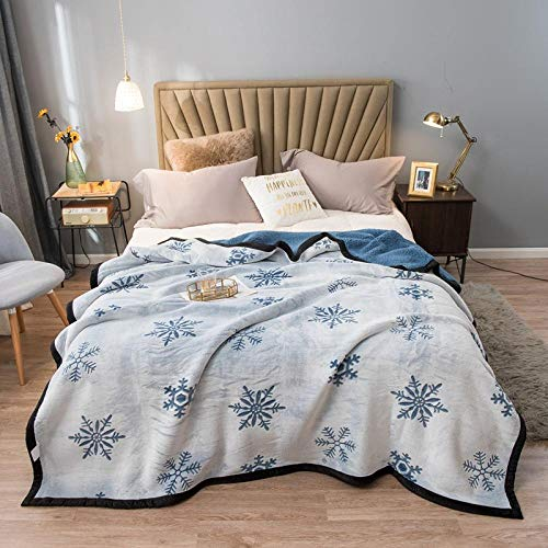 FRTU Throws blanket fleece blanket,Autumn and winter double-layer thick flannel composite blankets, leisure air conditioning blankets, double sofa blankets wholesale-10_100*120cm
