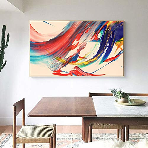 KWzEQ Pintura al óleo Abstracta Moderna Mural Art Poster Print Imagen Colorida Sala de Estar decoración del hogar,Pintura sin Marco,30x45cm