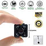 Spy Cam 1080 HD | Mini Telecamera Spia Nascosta | Micro Mini Telecamera Videosorveglianza con Rilevatore di Movimento e Infrarossi per Visione Notturna | Registrazione su Micro SD