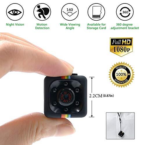 TDC – Mini Camara Espia Oculta HD 1080 - Cámara De Vigilancia Con Detector de Movimiento Vision Nocturna IR Microfono y Grabacion en Micro SD - Camara de Seguridad Interior/Exterior. Mini Spy Cam