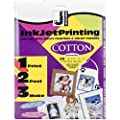 Jacquard Ink Jet Fabric 8.5'' x 11'' Cotton Sheets (30 Pack)
