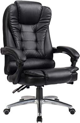 Chairs CJC Swivel Office PC Gaming Tilt Napping Desk Computer Leather Recliner Height Adjustable Executive (