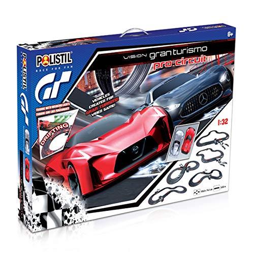 Polistil- Professional Vision GT Circuit Pista Elettrica, Colore Nero, 963025