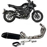 TARAZON Moto Tubos de escape + Silenciadores de escape para Yamaha MT-09 / FZ-09 2013 2014 2015 2016 2017 2018 2019/XSR 900 2016 2017 2018