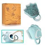 Ctpeng Dog Bath Brush Pet Shampoo Brush for Soothing Massaging Washing Deshedding
