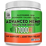 Pets Primal Hemp Hip & Joint Supplement for Dogs - Glucosamine, Chondroitin, MSM, Turmeric, Organic Hemp Seed Oil & Hemp Protein for Arthritis Pain Relief & Mobility - 160 Soft Chews