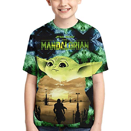 XCNGG Niños Tops Camisetas Kids 3D Graphic Shirt Boys Girls Short Sleeve T-Shirt Youth Tees Teen Boy Tops