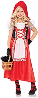 Little Red Riding Hood Costume for Girls Kids Halloween Cosplay Costume Party Roal Play Dress up 3-10years