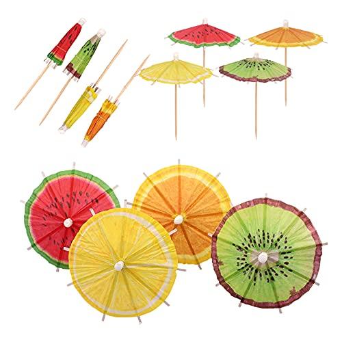 Hileyu 40 Piezas Sombrillas de Cóctel Paraguas de Cóctel Decoración de Cóctel...