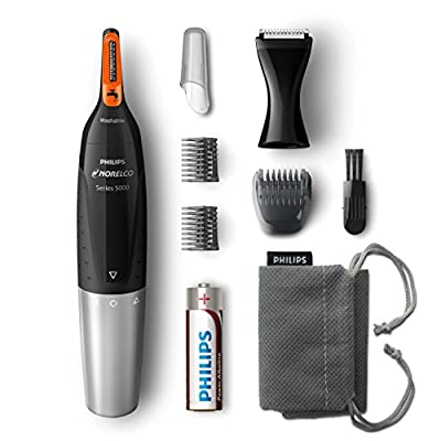 Philips Norelco NT5175/49, Nose Hair Trimmer 5100,Washable Mens Precision Groomer for Nose, Ears, Eyebrows, Neck, and Sideburns