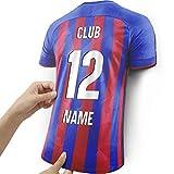 Lámpara de Camiseta para los Fans del Eibar Hecha de Madera -...