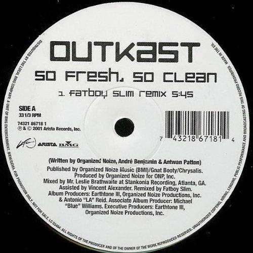 So fresh, so clean (Fatboy Slim Remix, 2001) [Vinyl Single]