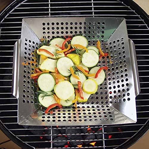 51N6WWvn4JL. SL500  - QILIN 3er-Pack Grillkorb Set, Grillkörbe für Outdoor-Grill, Heavy Duty Edelstahl, Grillgeschenke für Männer, Grillzubehör für alle Grills & Raucher