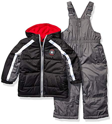 iXtreme Boys' Toddler Snowsuit, Star Black, 3T