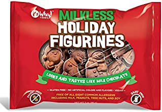 No Whey Foods - Milkless Chocolate Holiday Figurines (2 Pack) - Vegan and Allergy Friendly Christmas Chocolate- Dairy Free, Nut Free, Peanut Free, Soy Free, Gluten Free