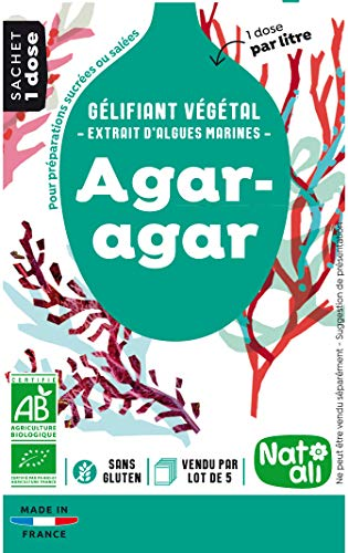 Nat-Ali Agar Agar Gélifiant Biologique Sachets 5 x 4 g