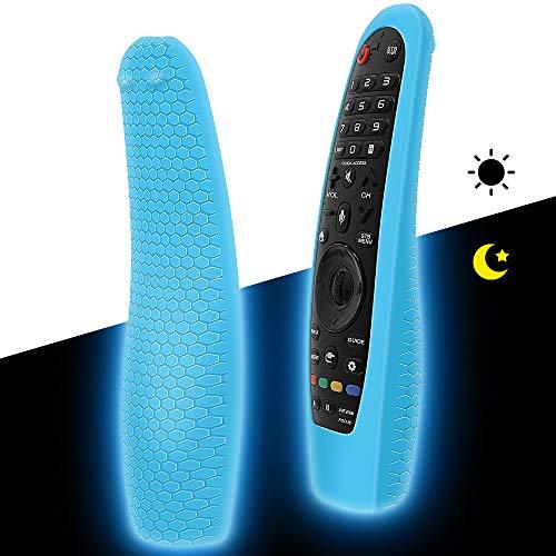 Custodia in Silicone Compatibile con LG Telecomando AN-MR18BA   AN-MR19BA  AN-MR20GA Smart TV Telecomando per LG Magic Magico Remote Protettiva Cover Anti-Scivolo Cassa Copertura(Blu Fluorescente)