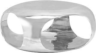 vidaXL Couchtisch Aluminiumguss Silbern Beistelltisch Wohnzimmer Sofatisch