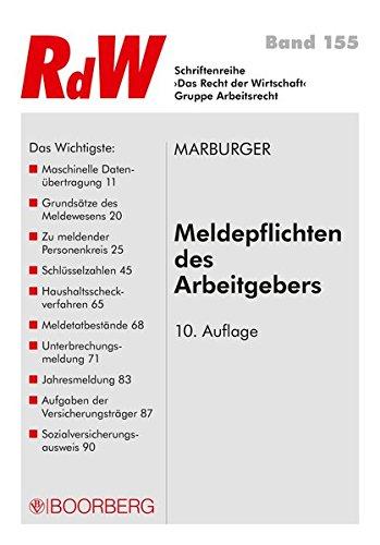 Meldepflichten des Arbeitgebers (Schriftenreihe RdW)